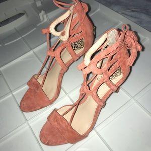 Vince Camuto Pink Open-Toe Stilettos